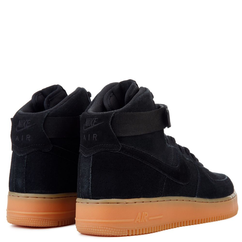 Women S Nike Air Force 1 Hi Suede Black Gum Med Brown
