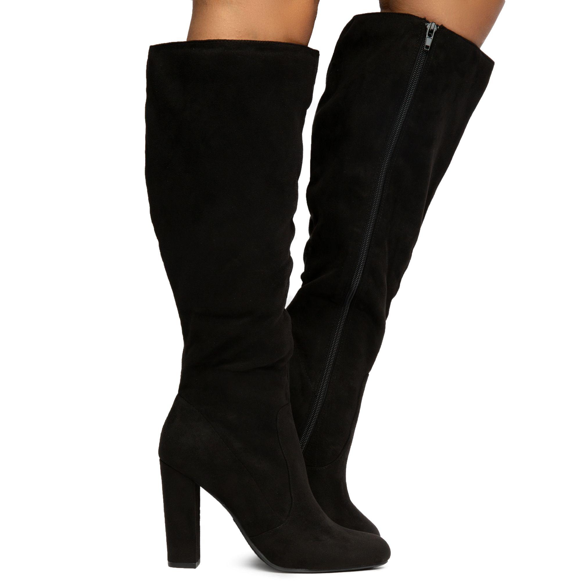 FORTUN Womens high Heel Boots Super high Heel Boots high Boots