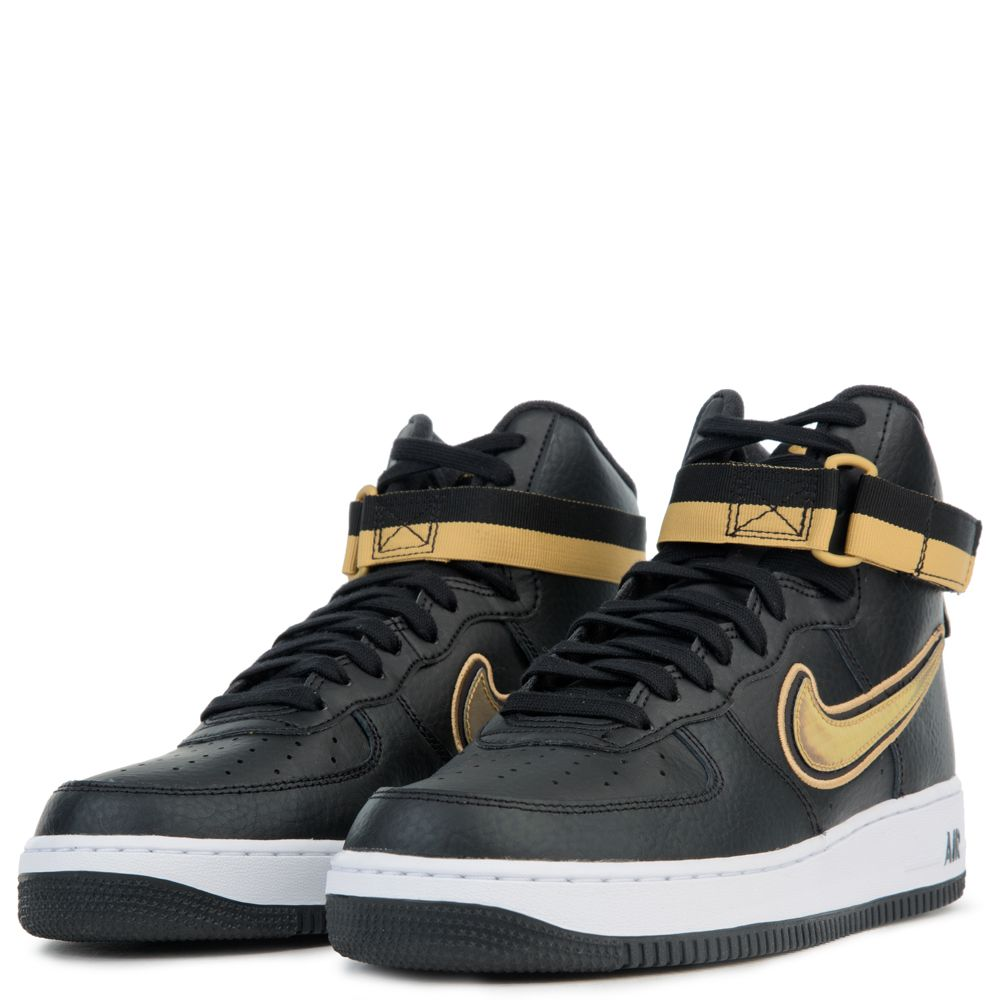 Air Force 1 High 07 Lv8 Sport Black Metallic Gold White
