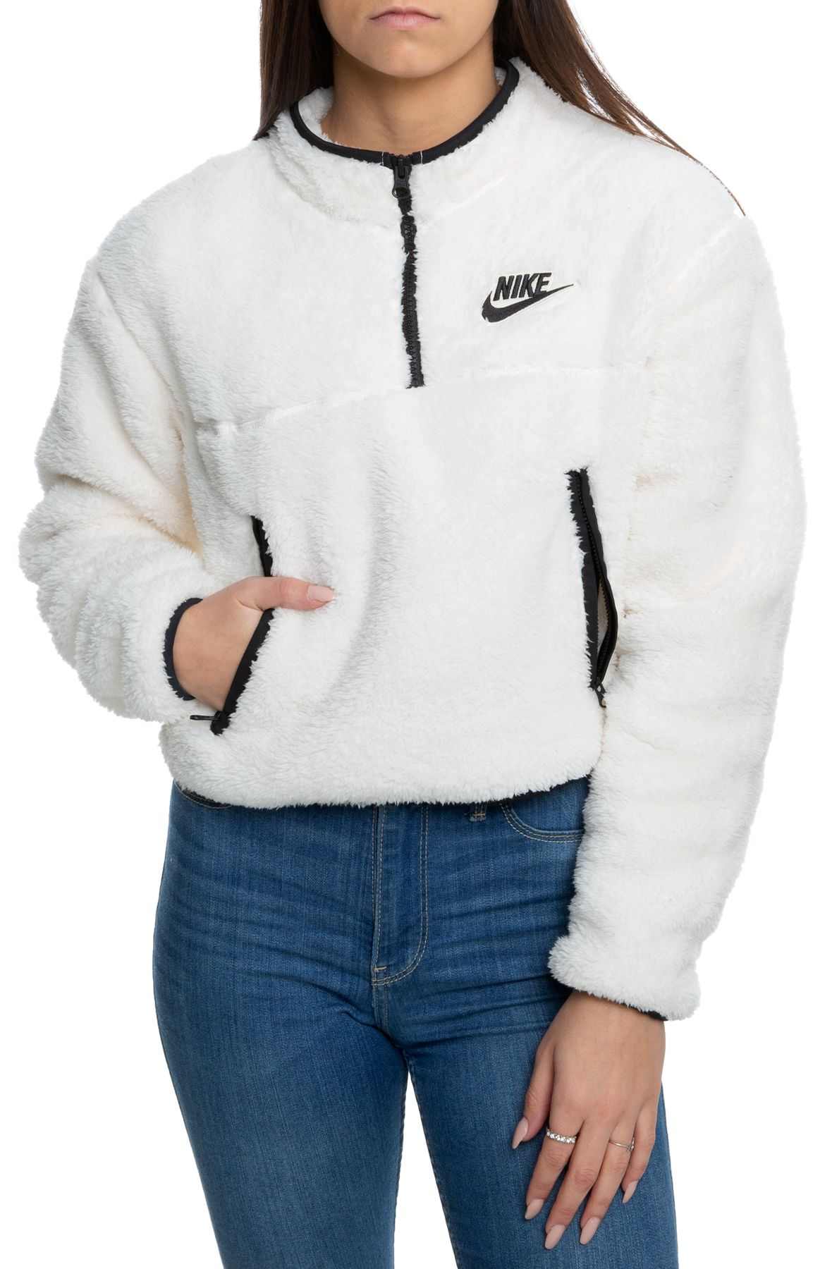 Nike Sportswear Quarter Zip Velour Pullover and 50 similar items