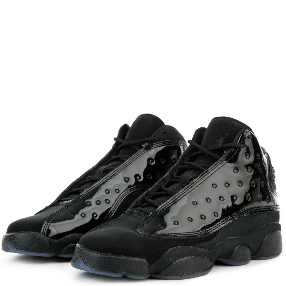 Nike Air Jordan 13 Retro GS Cap and Gown Black Black Size 4Y 884129 012