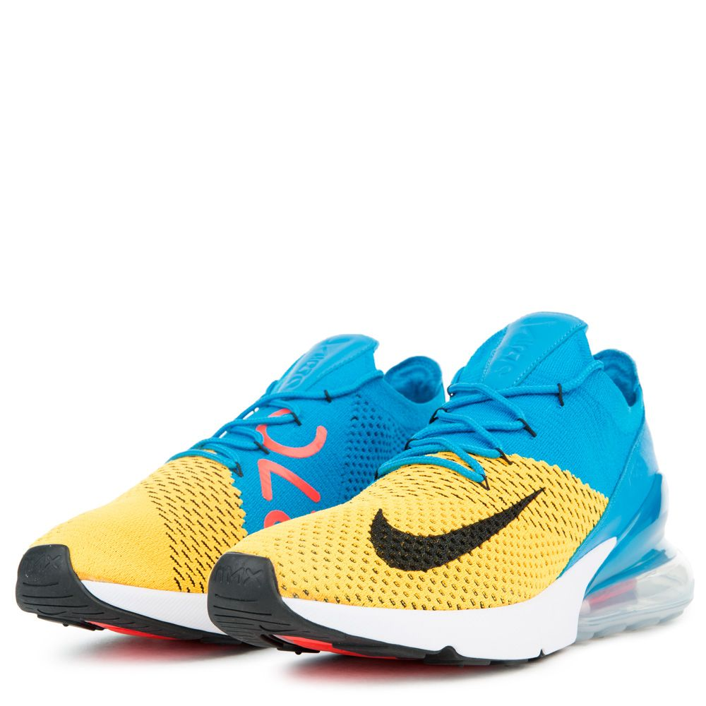 buy popular ade0f 16908 AIR MAX 270 FLYKNIT LASER ORANGE/BLACK/BLUE ORBIT