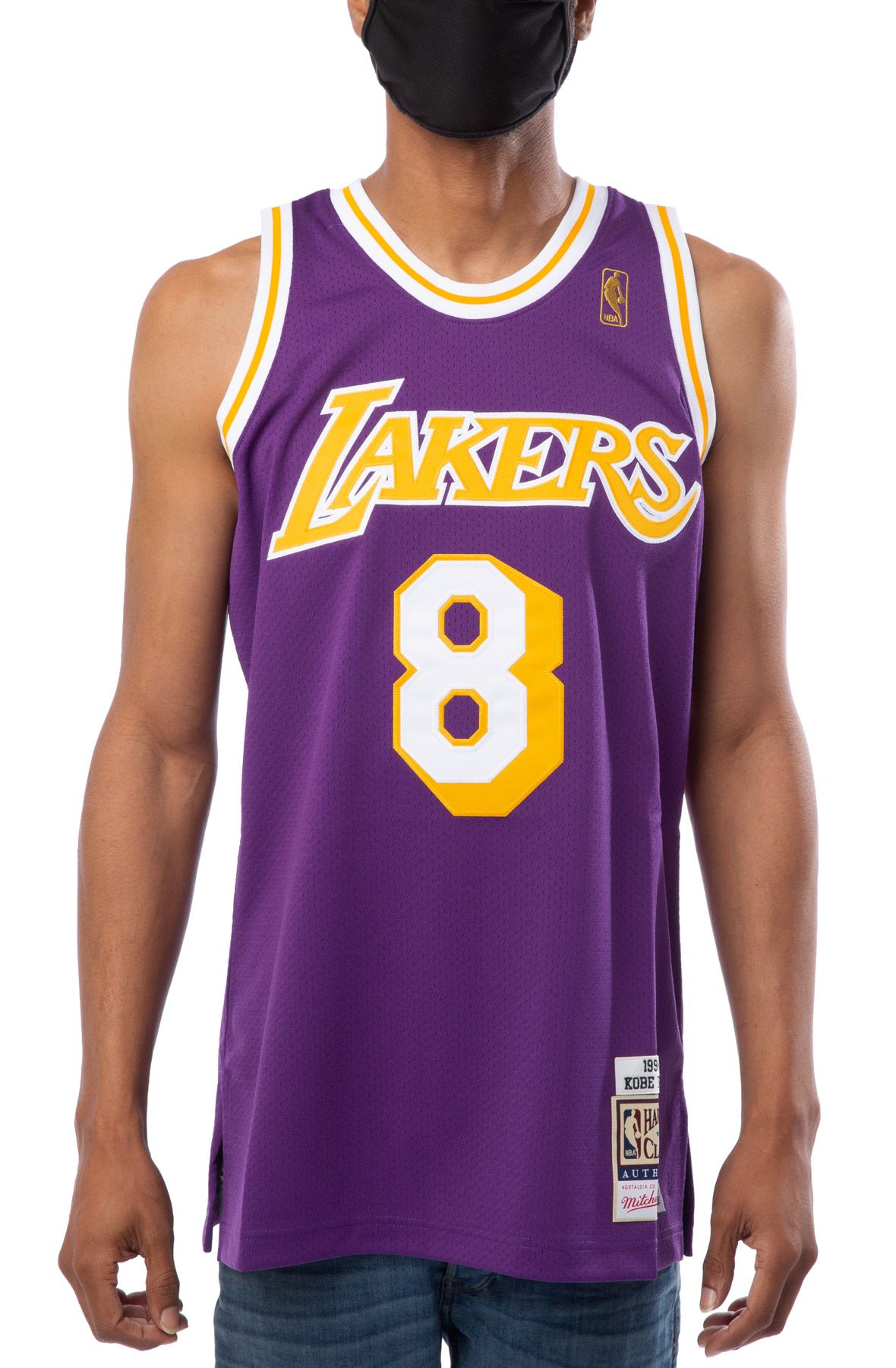 LOS ANGELES LAKERS KOBE BRYANT 1996-97 AUTHENTIC ROAD JERSEY