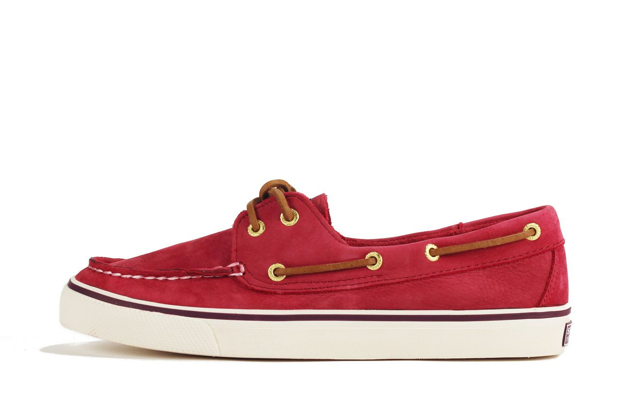 Sperry Topsider: Bahama Red Boat Shoe Red