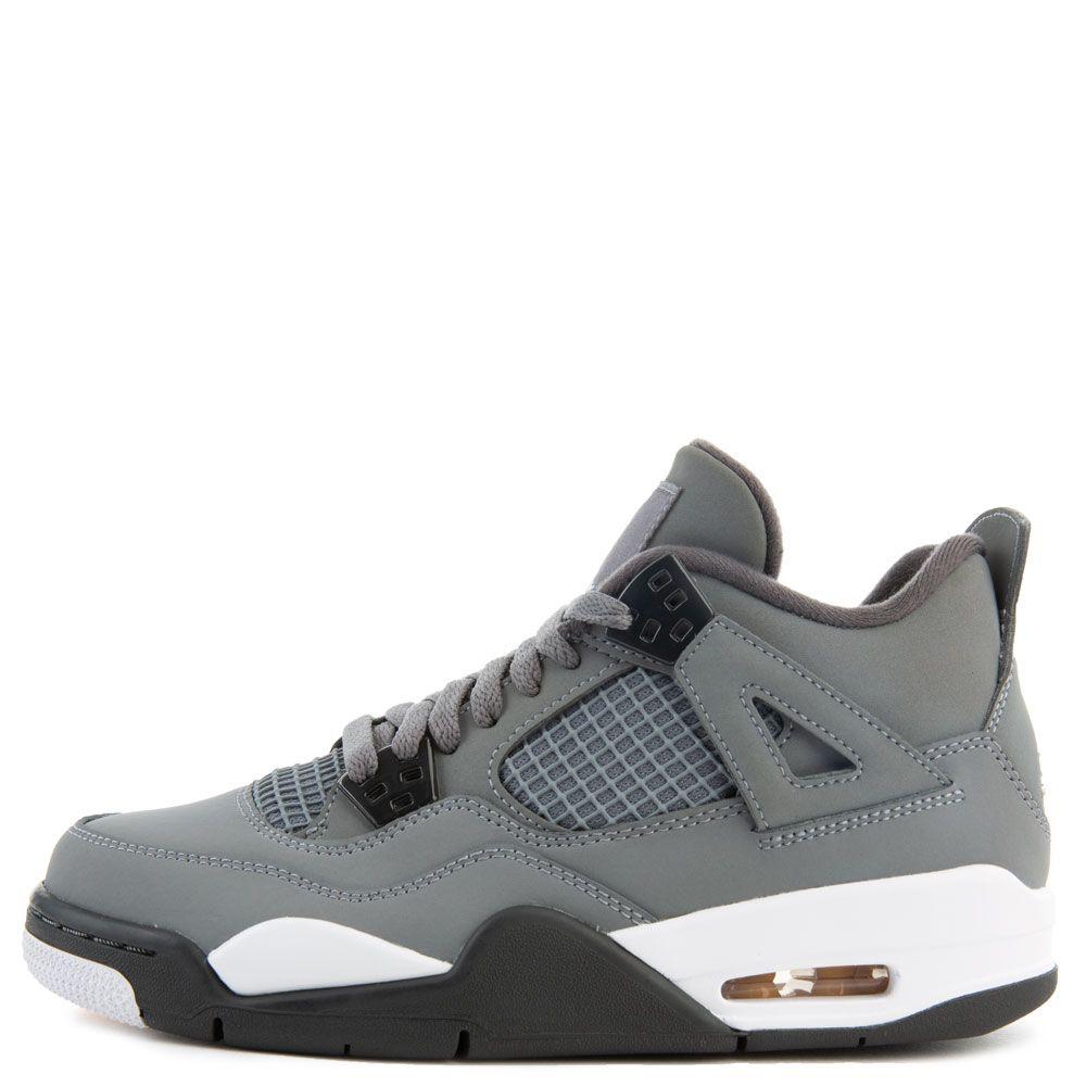 outlet store 19007 13501 (GS) Air Jordan 4 Retro Cool Grey/Chrome-Dark Charcoal