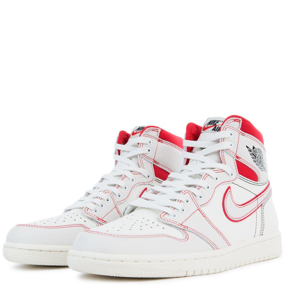 Nike Air Jordan 1 Retro High Phantom White University Red