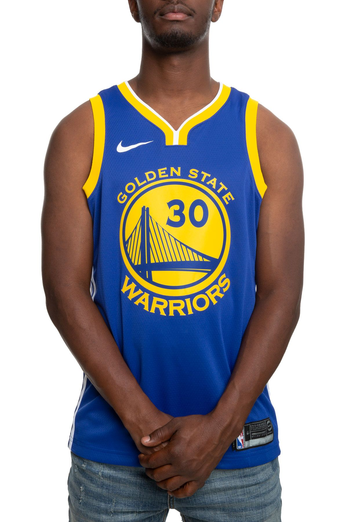 huge selection of dc166 81b8a GOLDEN STATE WARRIORS STEPHEN CURRY ICON EDITION SWINGMAN JERSEY RUSH  BLUE/WHITE/AMARILLO