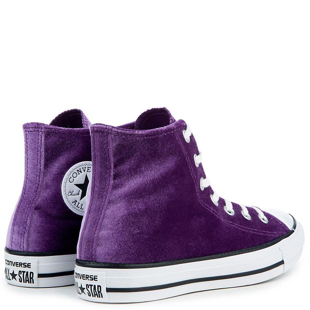 Women's Chuck Taylor All Star Velvet Hi Sneaker night purplewhitewhite