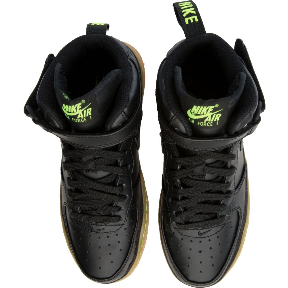 Air Force 1 Mid LV8 (GS) Black/Lime Green/Gum
