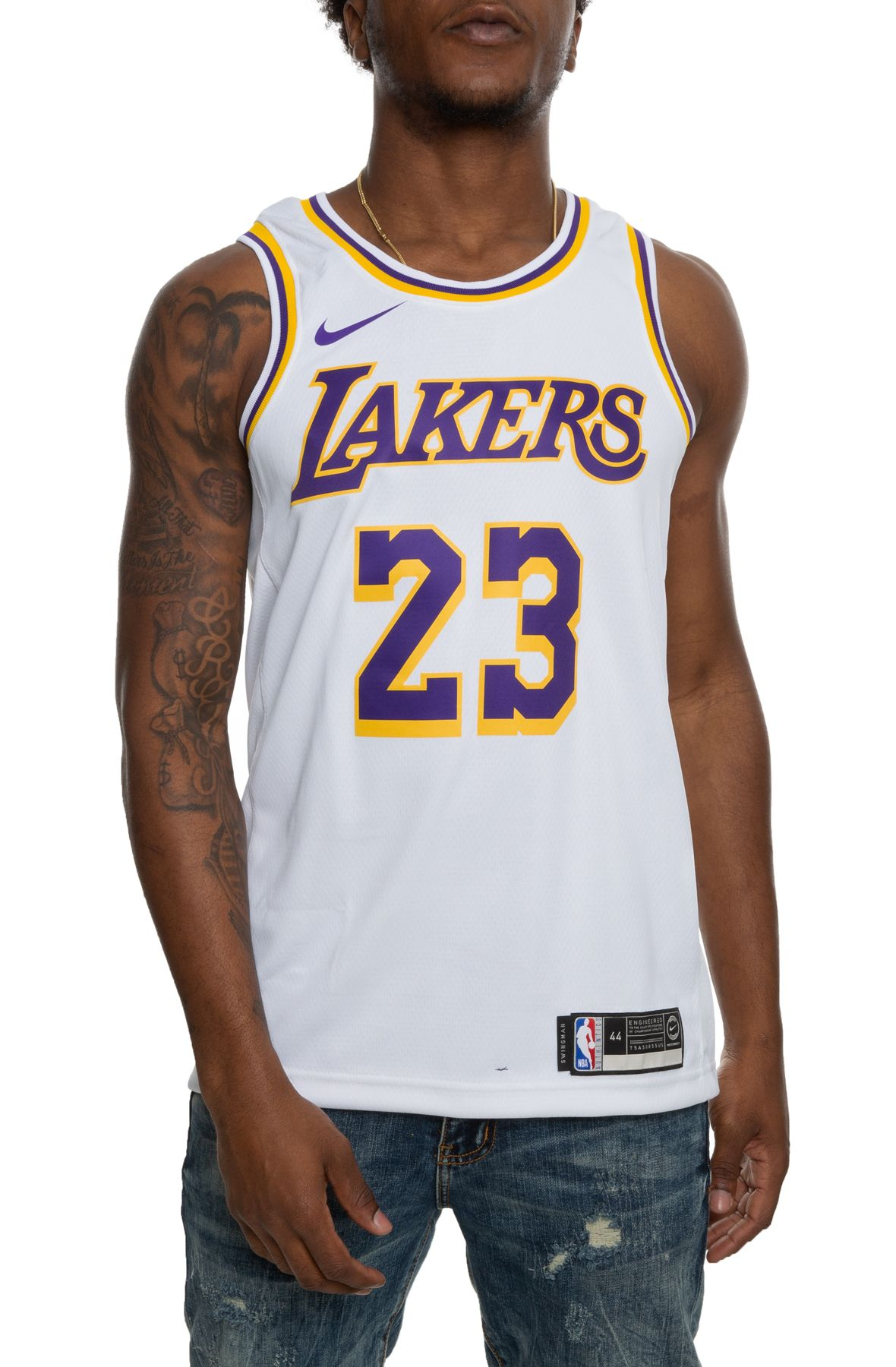 LeBron James Los Angeles Lakers Association Edition Swingman Jersey
