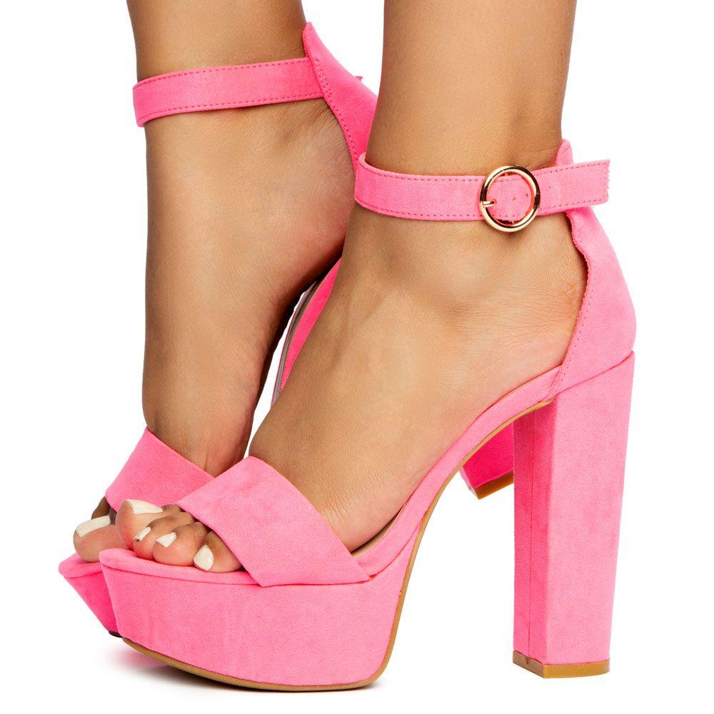 Shocking-07 Open Toe Chunky Heels
