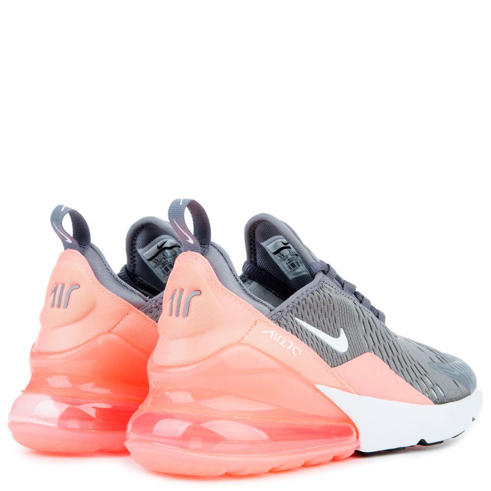 Nike Air Max 270 Gs Gunsmoke White Lt Atomic Pink