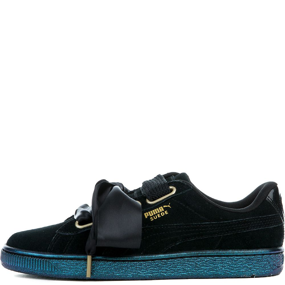 Women's Suede Heart Satin Sneaker puma blackpuma black