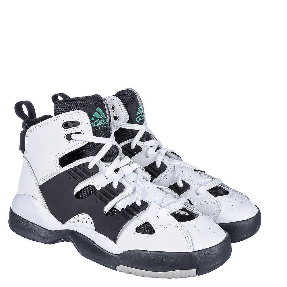 Adidas EQT Basketball Men's White/Black Athletic Shoes | Shiekh Shoes