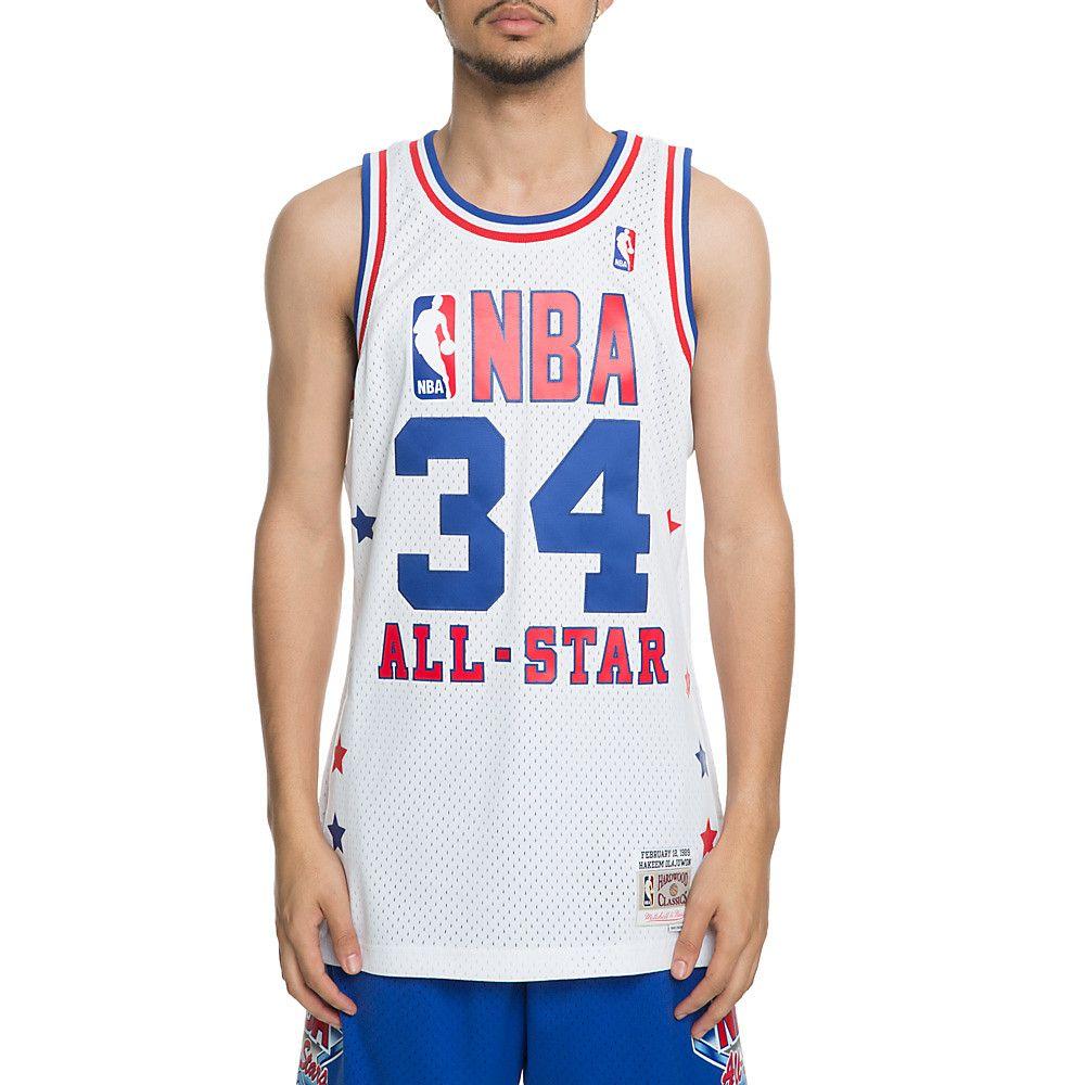 meet 9f449 dc0e0 Men's All-Star Hakeem Olajuwon Jersey White