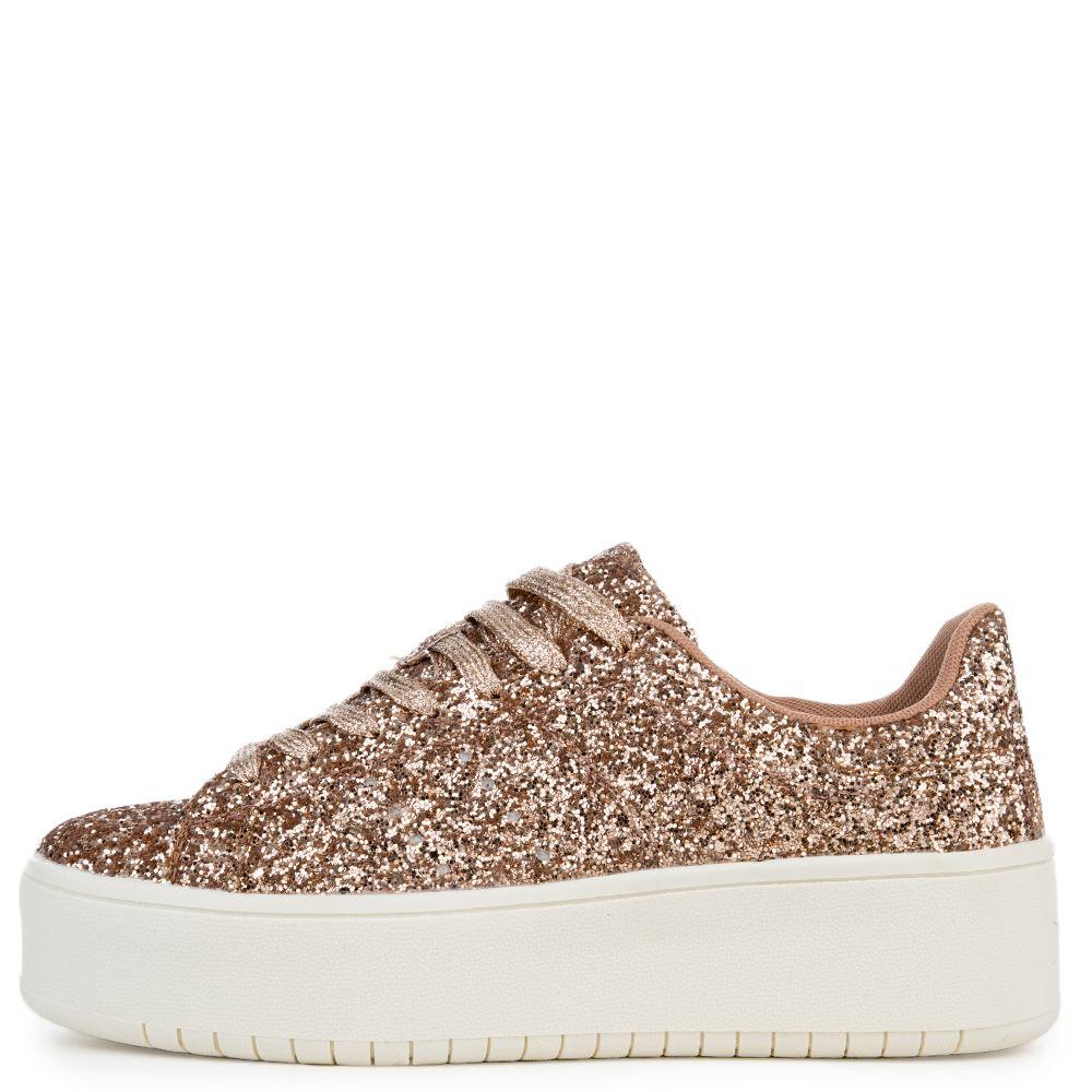 Rose Gold Platform Sneaker rose gold
