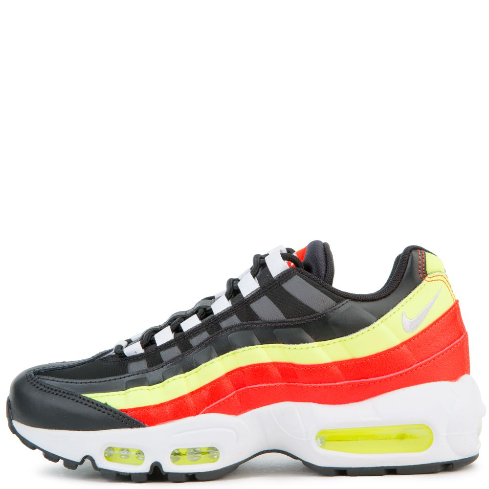 low priced 7715a 25222 AIR MAX 95 BLACK/WHITE-HABANERO RED-VOLT