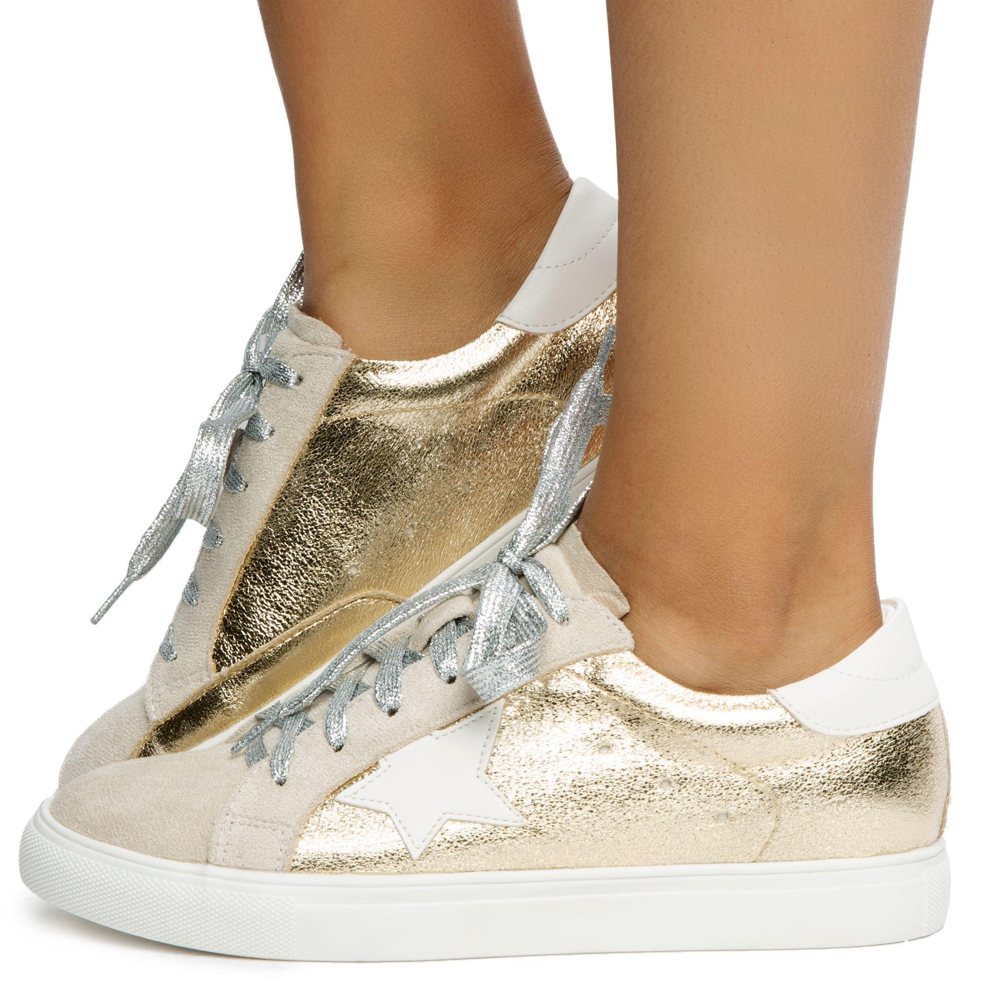Dale Gold Metallic Sneakers