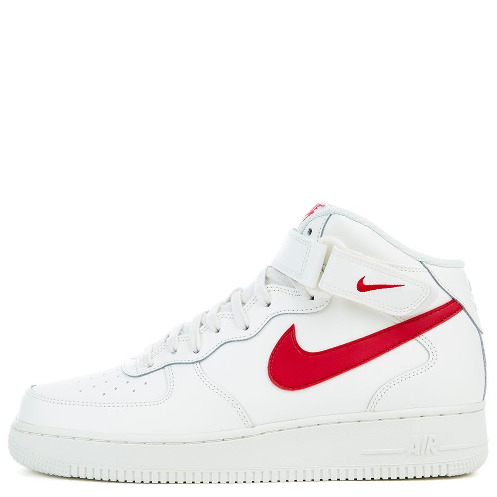 Producción Arte comerciante  AIR FORCE 1 MID '07 SAIL/UNIVERSITY RED