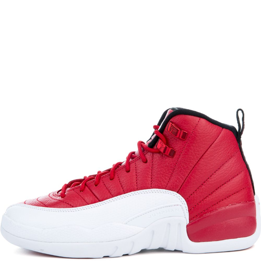 best website 986a6 52240 GRADE SCHOOL JORDAN 12 RETRO GYM RED/WHITE-WHITE-BLACK