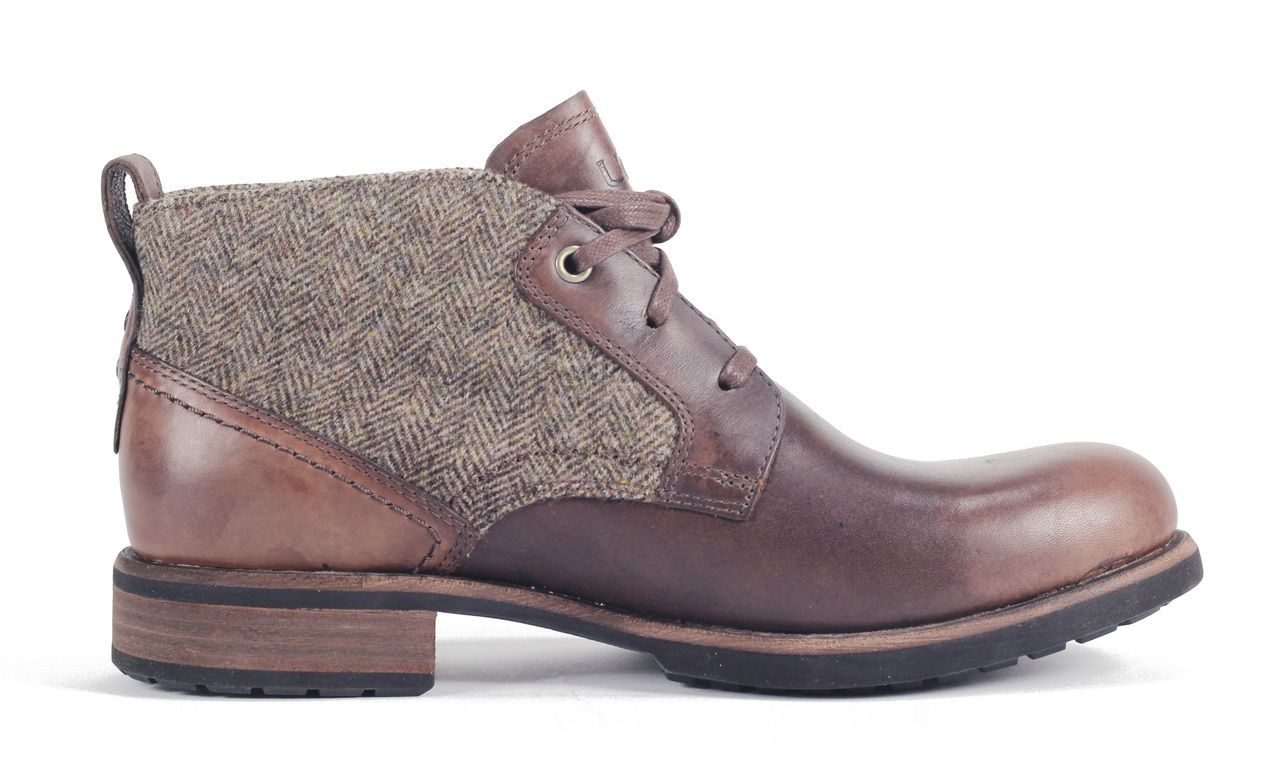 1005174 GRZ UGG Men's Brompton Tweed Casual Shoes Grizzly