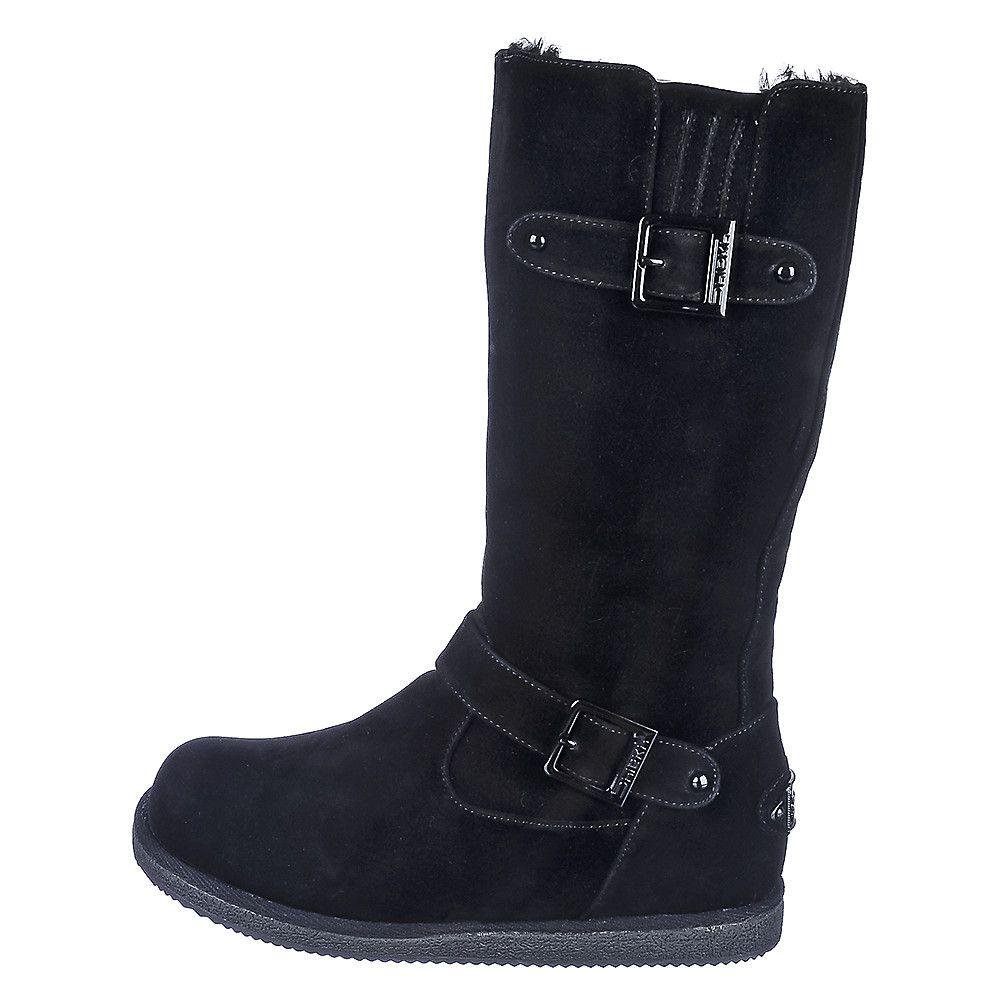 Fur Interior Boot Urban Buckle Black