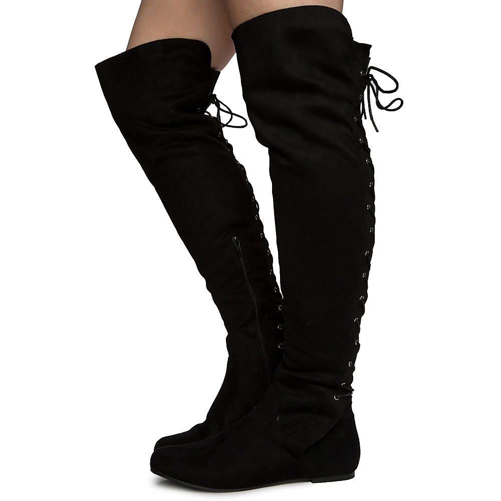 Women's Kalisa-99 Thigh High Boots BLACK