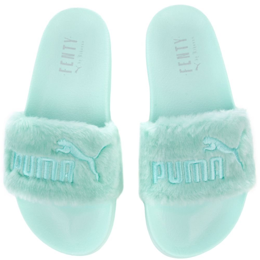the best attitude 7b479 4136d FENTY FUR SLIDES BAY-PUMA SILVER