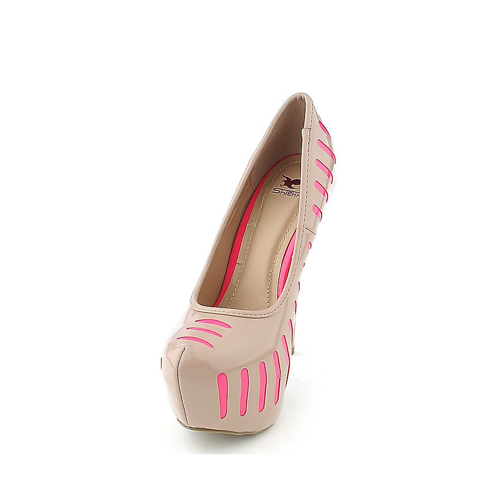 Attention Womens Wedge Shoe Athens - Nude