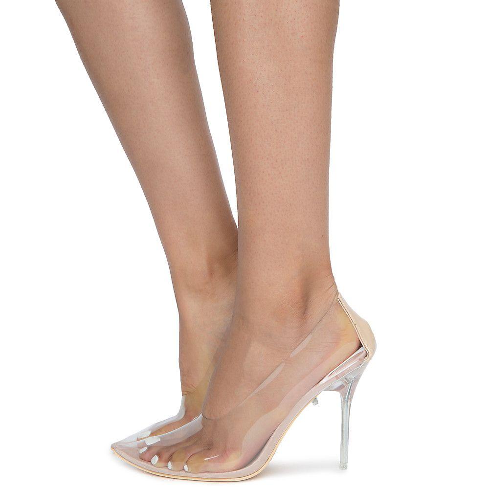 Nude 1 Inch Heels