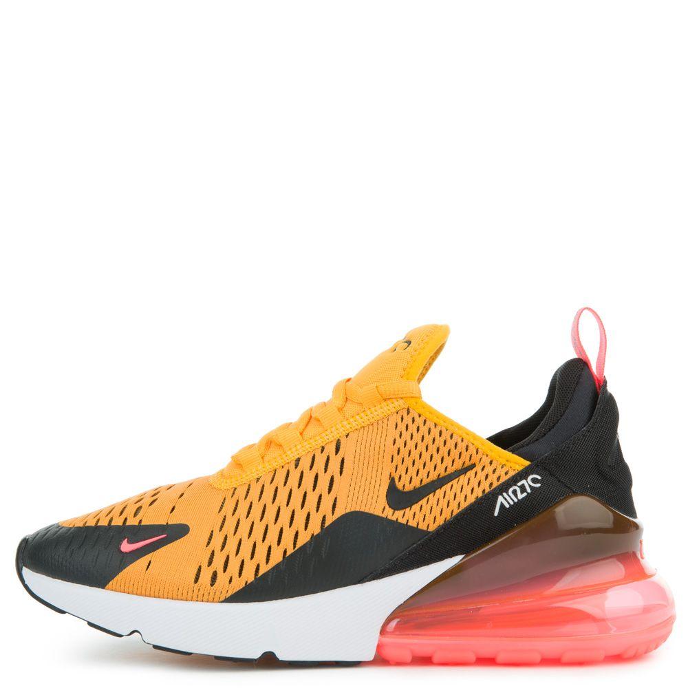 separation shoes 7e386 dfd58 GRADE SCHOOL NIKE AIR MAX 270 UNIVERSITY GOLD/BLACK/BLACK/HOT PUNCH/