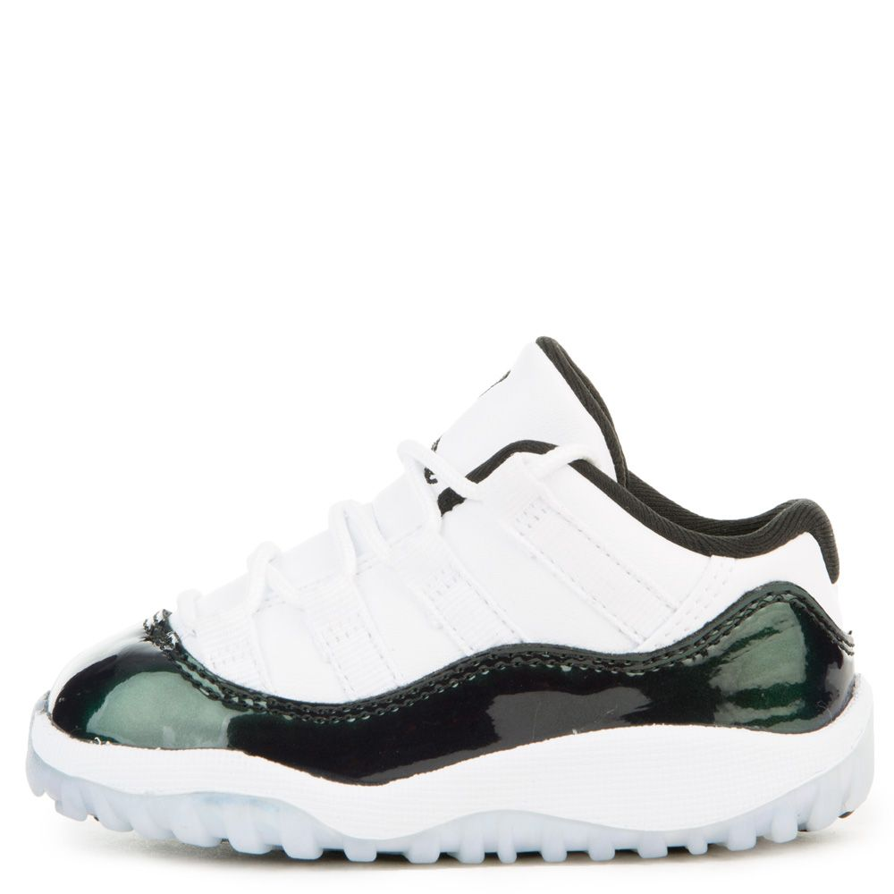 premium selection c4ef8 8cabf TODDLER JORDAN 11 RETRO LOW WHITE/BLACK/EMERALD RISE