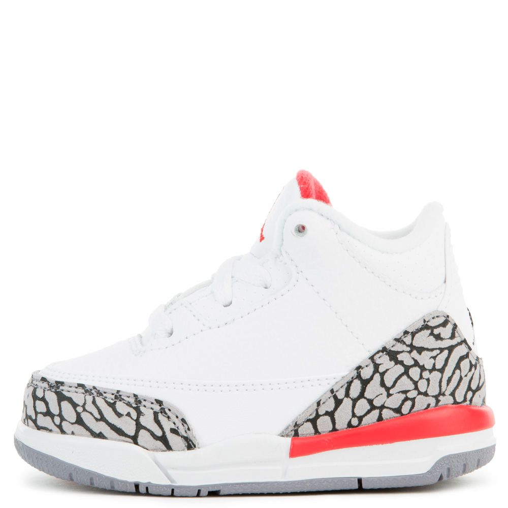 quality design b3c97 6074a TODDLER JORDAN 3 RETRO WHITE/FIRE RED/CEMENT GREY/BLACK