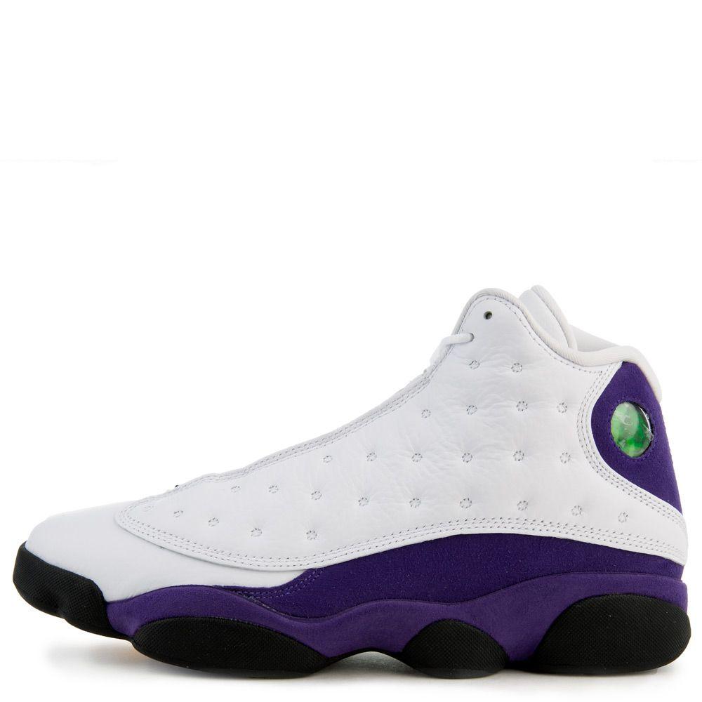 los angeles cb041 b6833 Air Jordan 13 Retro White/Black-Court Purple-University Gold