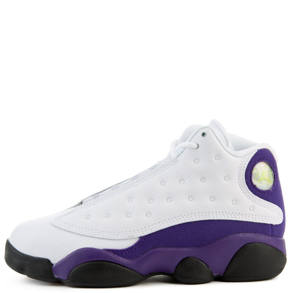 sale retailer e57ee 9efc9 (PS) Air Jordan 13 Retro White/Black-Court Purple-University Gold
