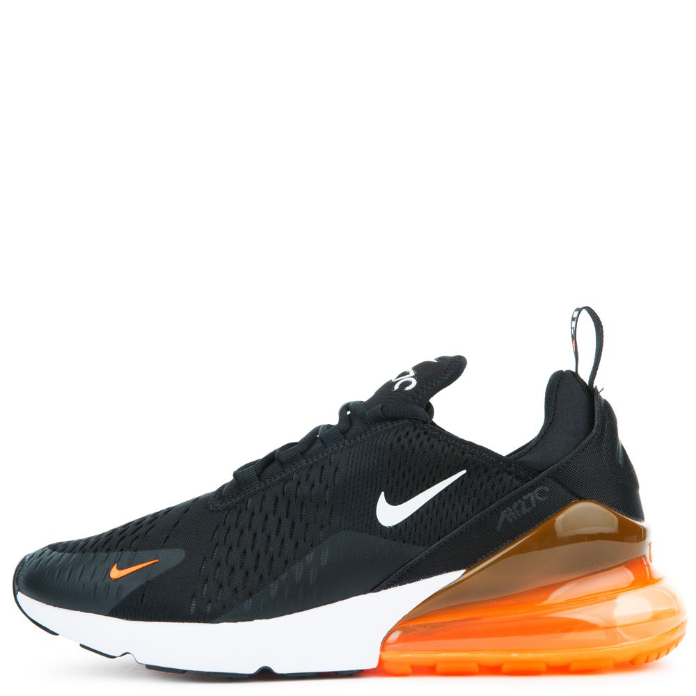 Air Max 270 Black White Total Orange