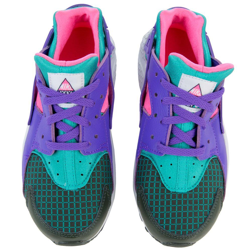 Little Nike Huarache Run Now Casual Outdoor Green//Hyper Grape//Cabana BQ7097 300