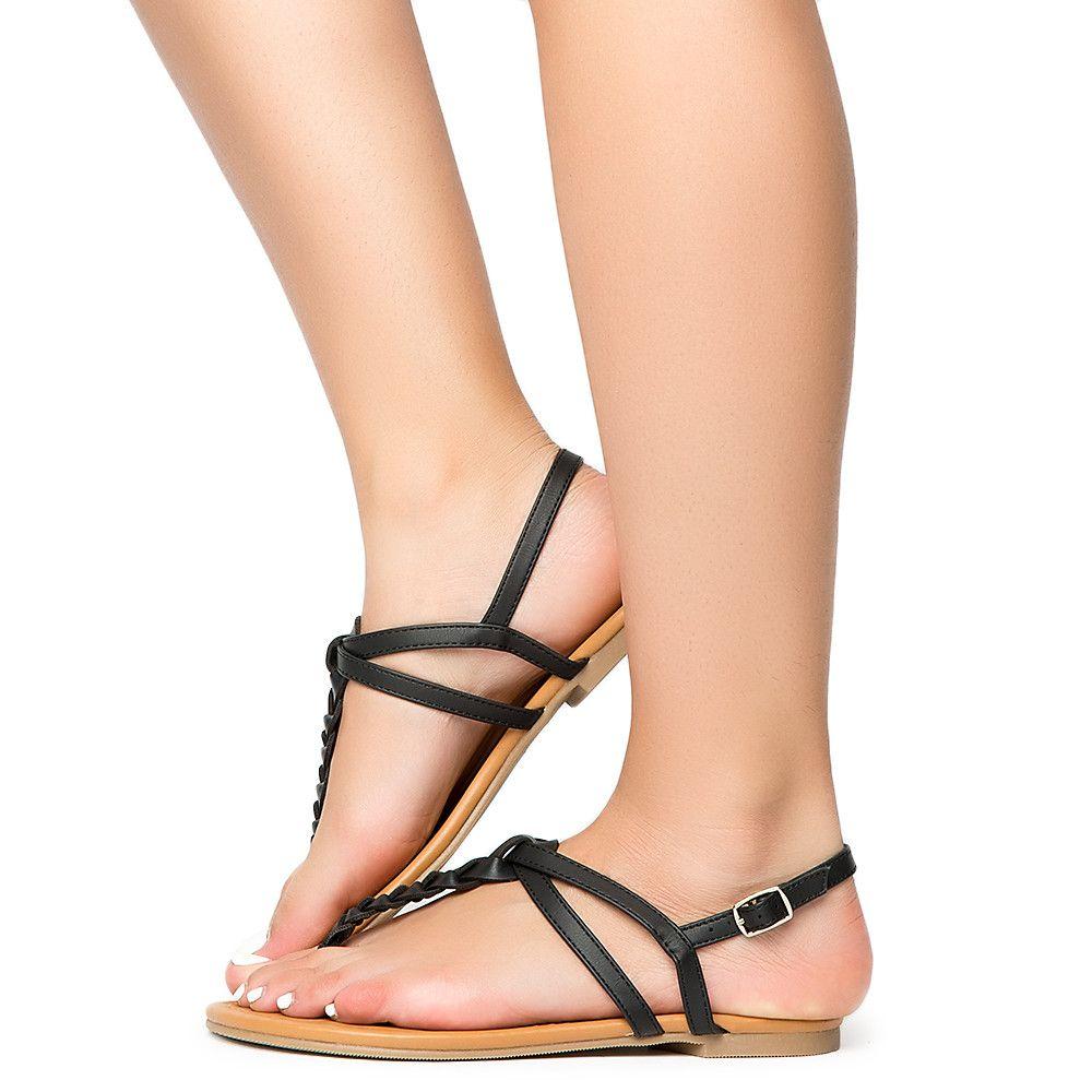 Womens Judith-S Casual Sandal BLACK PU