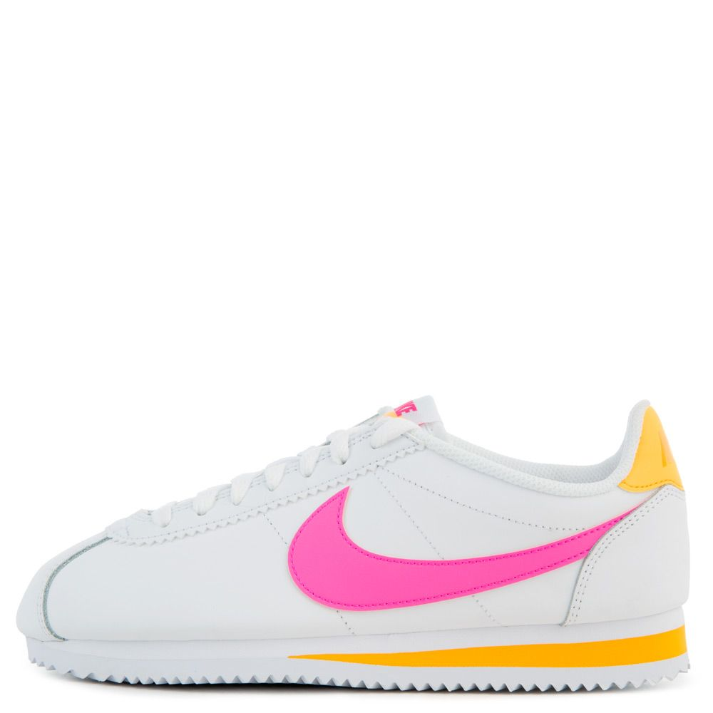 quality design 859a3 12454 WOMEN'S CLASSIC CORTEZ WHITE/LASER FUCHSIA-LASER ORANGE
