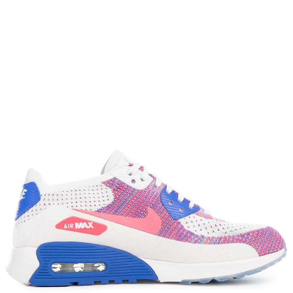 Zapatos NIKE W Air Max 90 Ultra 2.0 Flyknit 881109 103 WhiteRacer PinkMedium Blue