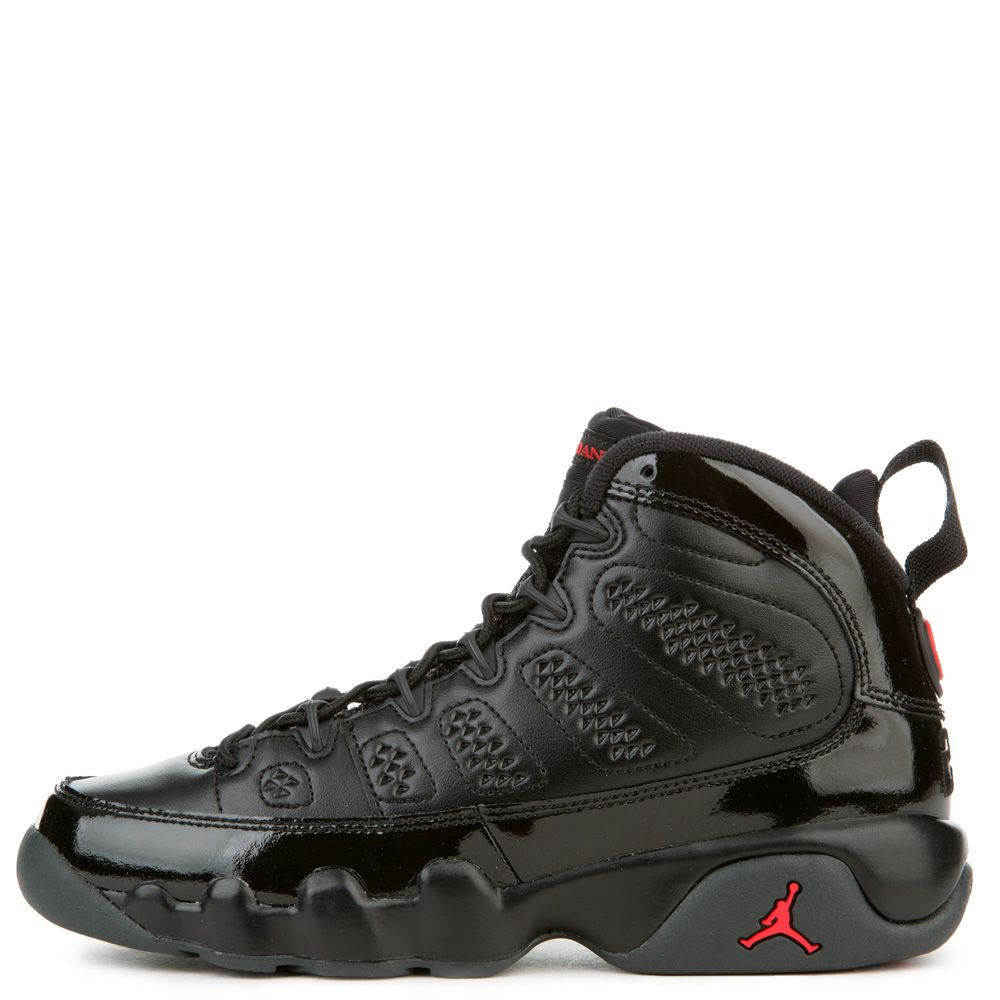 best sneakers a5f26 34611 GRADE SCHOOL AIR JORDAN 9 RETRO BLACK/UNIVERSITY RED/ANTHRACITE