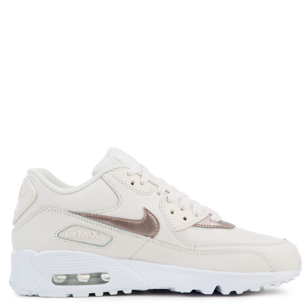 (GS) AIR MAX 90 LEATHER PHANTOMMTLC RED BRONZE WHITE
