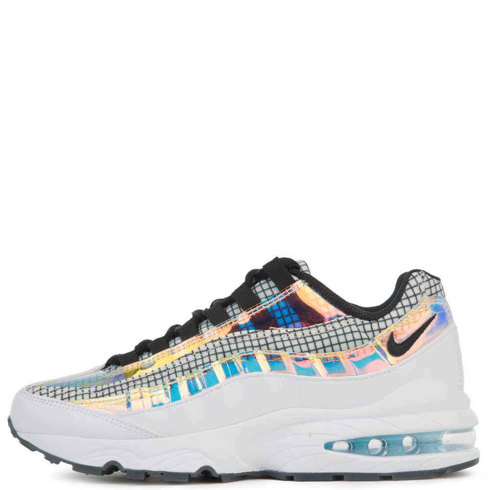 Gs Air Max 95 Lv8 White Black Blue Gaze Lime Blast