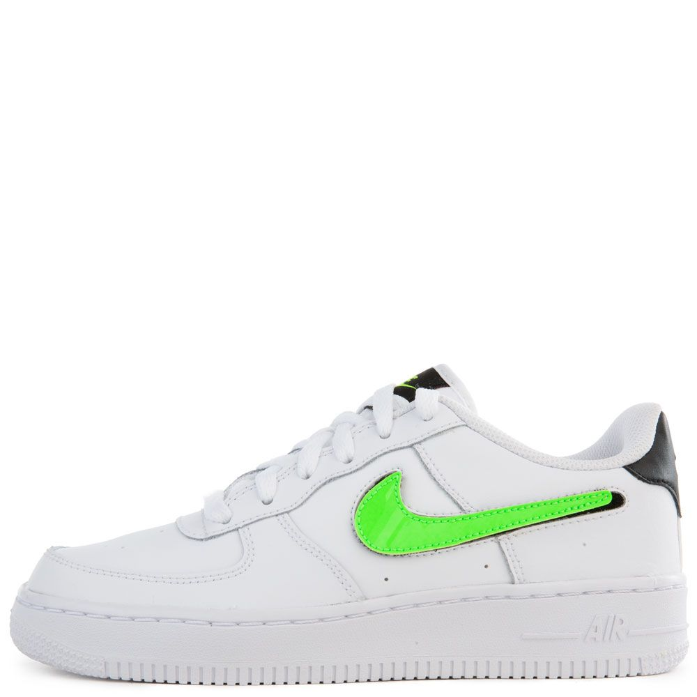 new lifestyle good selling get new (GS) Air Force 1 LV8 3 White/Black-Green Strike-White