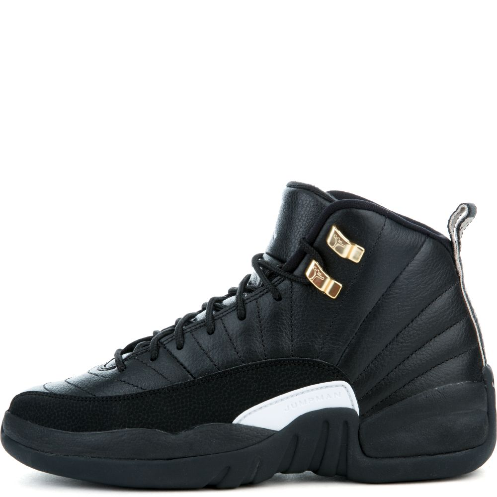 sale retailer b6c11 f51ed AIR JORDAN 12 RETRO BG BLACK/BLACK/METALLIC GOLD/WHITE