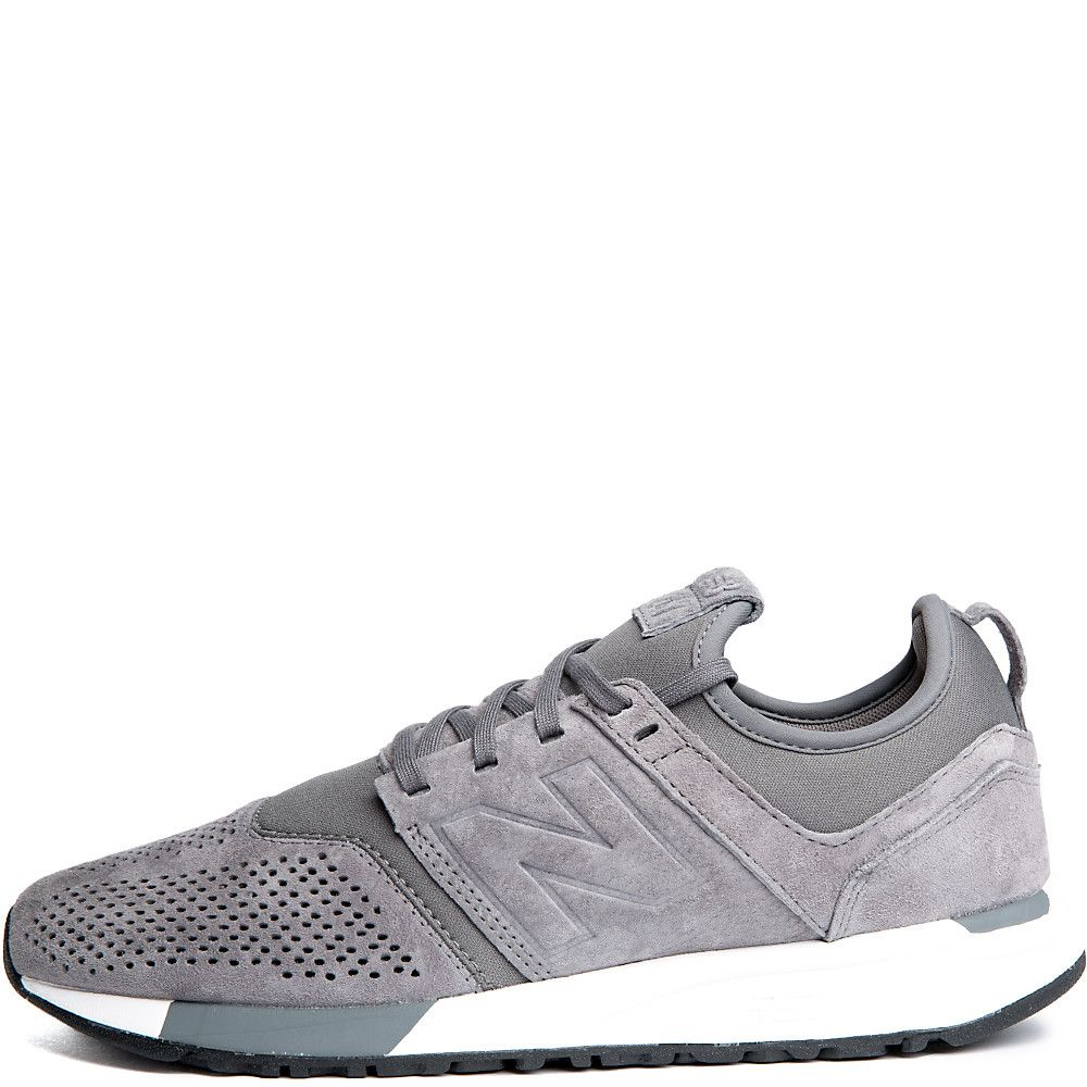 Men's 247 Suede Sneaker Grey/White