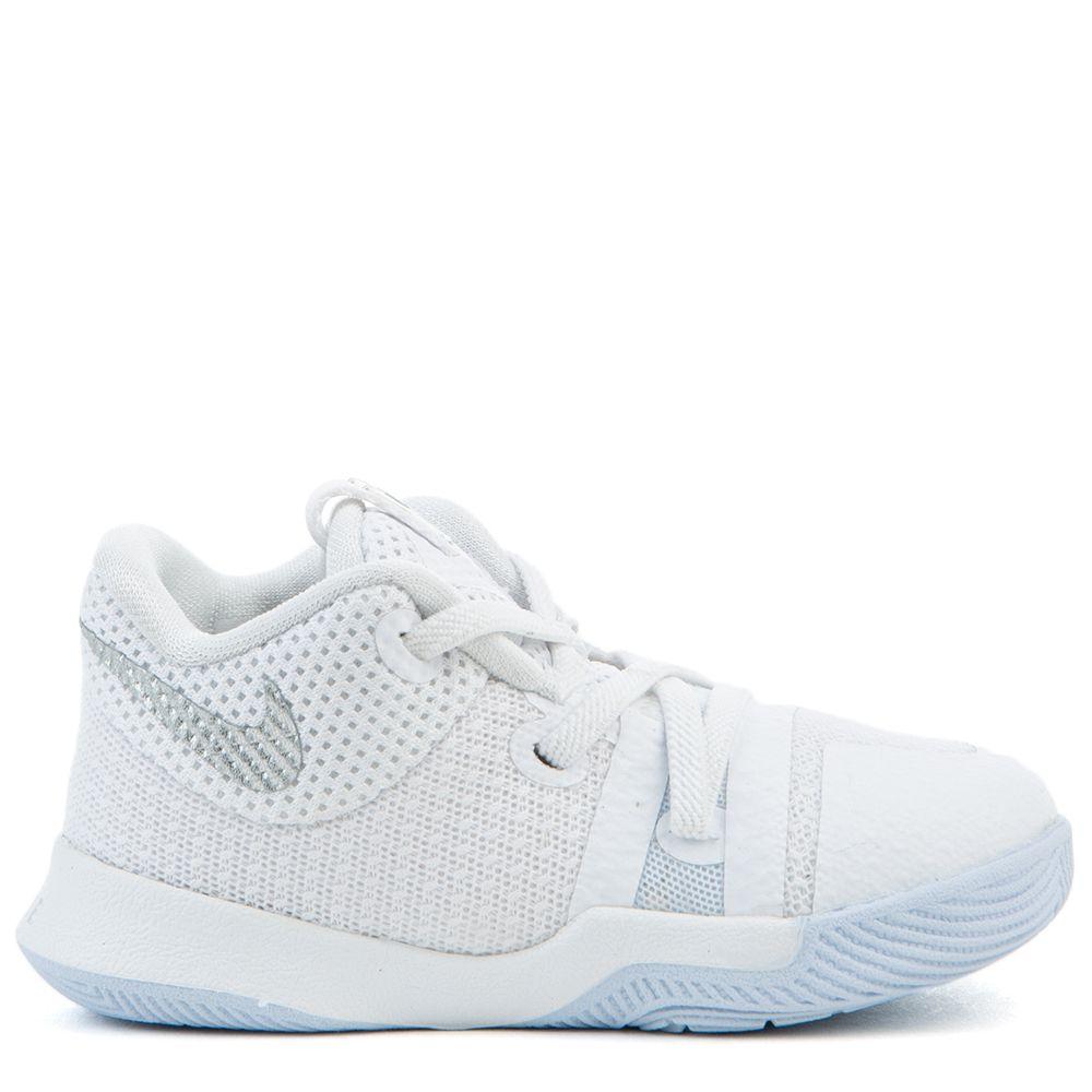 meet a819f 49ba9 Boys' Kyrie 3 Shoe White/Chrome WHITE/CHROME