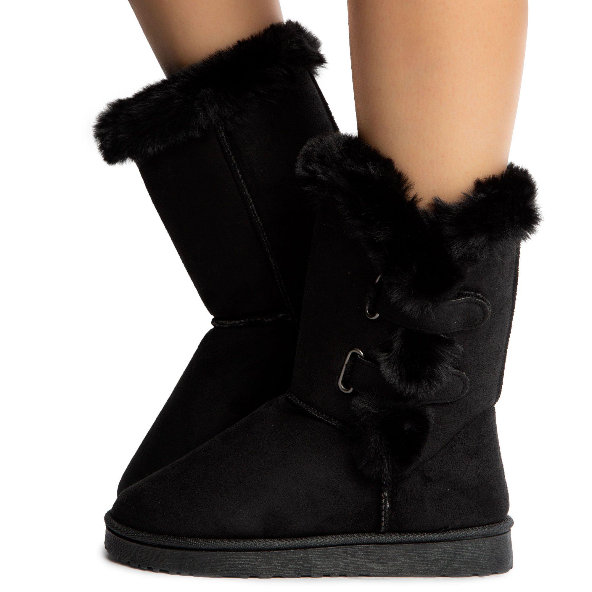 Desire-R001 Mid-Calf Fur Boots