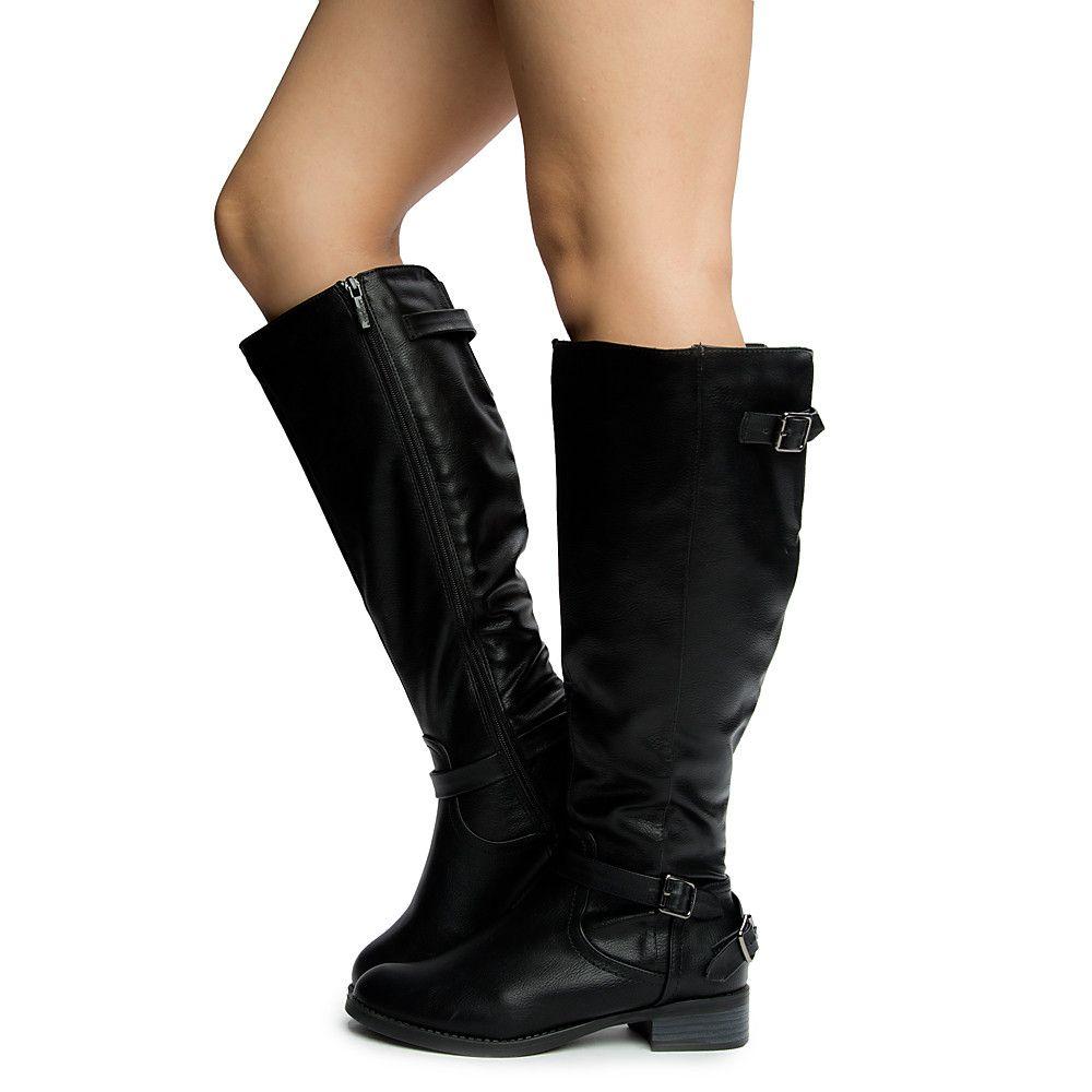 Womens Briela-1 Mid Calf Boots BLACK