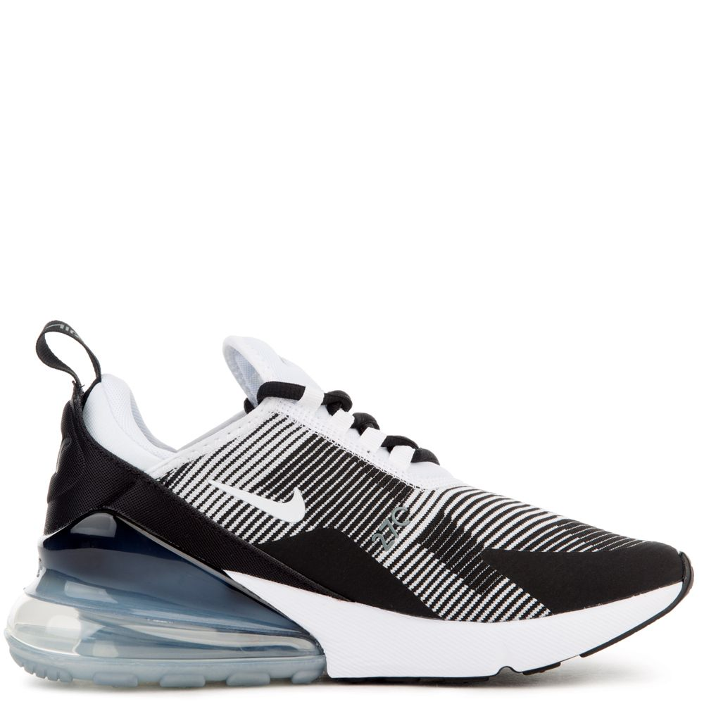 Details about NEW KIDS NIKE AIR MAX 270 JACQUARD RUNNING AR0301 007 BLACK WHITE GREY SZ 4 Y